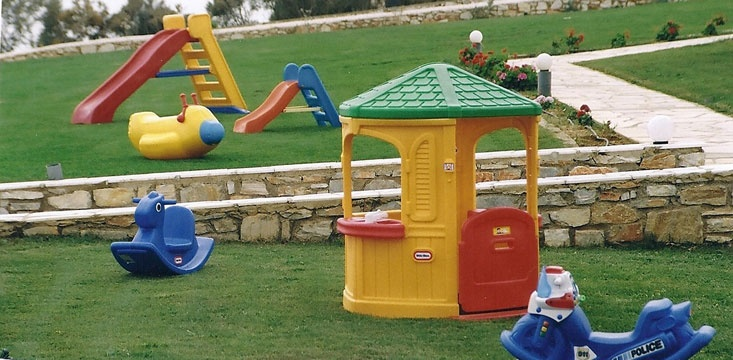 Outdoor plastic toys for rental