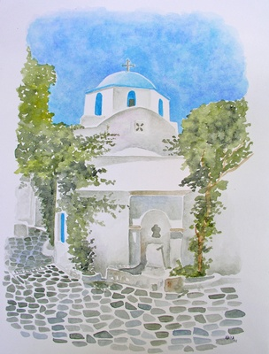 Church in Paroikia, Paros