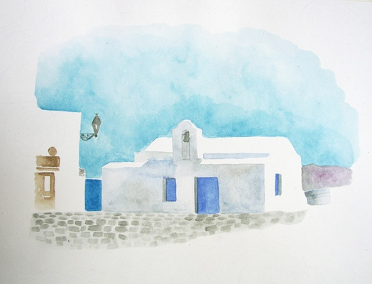 Church in the port of Naoussa, Paros