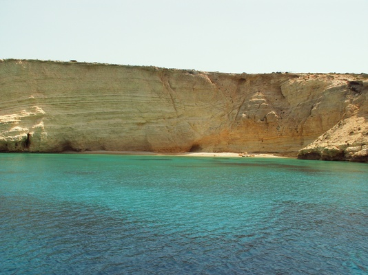 A beautiful cove with turquoise waters