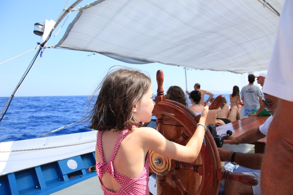 Kids having fun on board