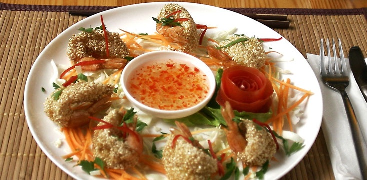 Shrimps sesame
